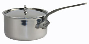 Mauviel Saucepan Stainless Steel 20cm with electroplated finish handle