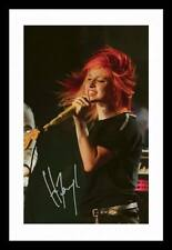 HAYLEY WILLIAMS - PARAMORE AUTOGRAPHED SIGNED & FRAMED PP POSTER PHOTO