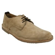 MENS TAUPE GENUINE COW SUEDE LEATHER LACE UP SMART CASUAL SHOES IKON BENJAMIN