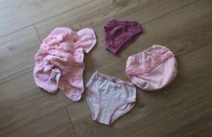 4 Baby Unterhosen Baby Slips 1 Windelhosen * Baby Höschen Wäsche Rosa Reborn