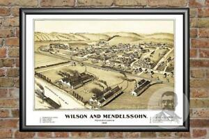 Old Map of Wilson, PA from 1902 - Vintage Pennsylvania Art, Historic Decor