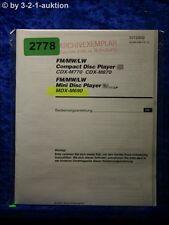 Sony Bedienungsanleitung MDX M690 / CDX M770 /M670 Disc Player (#2778)
