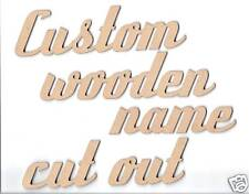 Custom wooden names cut out 5cm tall 3mm thick. Price per letter.