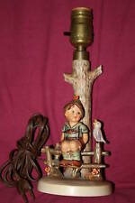 Collectible Wayside Harmony Goebel Hummel Figurine Lamp Nursery Light Lamp