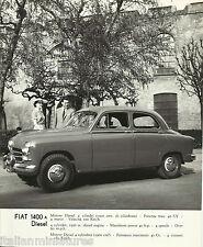 FIAT 1400 DIESEL FUEL ORIGINALE FIAT FOTOGRAFIA ORIGINALE ANNI 1950