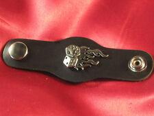 "Handcrafted Vest Extender /""Fallen Soldier/"" Antique Silver Color Bold Leather"