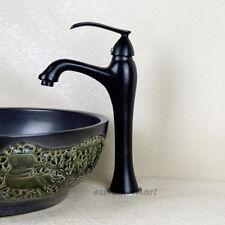 Oil Rubbed Black Single Handle Basin Faucet Bathroom Counter Top Sink Mixer Tap