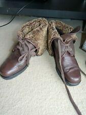 LK Bennett Brown Shearling Sheepskin Leather Boots, Lightweight UK 5.5 EU 38.5