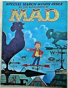 MAD Magazine #62 April 1961! FINE! 6.0! $0.99 Start! SHARP! TIGHT! SUPER SOLID!!