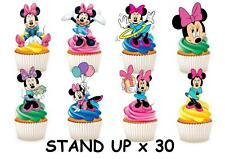 30 DISNEY MINNIE MOUSE STAND UP Cupcake Cake Topper Edible Paper Decorations