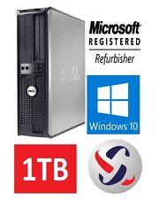 Dell Windows 10 Desktop Computer 1TB HDD | 8GB RAM | Wifi | 3.0GHz Processor