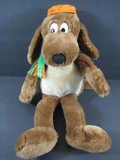 """17"""" GO DOG GO Brown Puppy Dog Orange Hat KOHLS Floppy Plush  B167"""