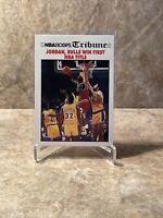 1991-92 NBA Hoops Tribune #542 Michael Jordan Bulls Win First NBA Title