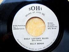 BLUES/SOUL45: BILLY BONDS Daily Lottery Blues Parts 1 & 2 SOHI QD830212-01