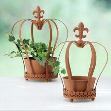 Gartendeko Tier auf Übertopf Metall bepflanzbar Blumentopf Topf Pflanzen NEU