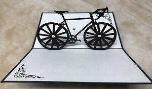 3X 3D Pop Up Card Handmade Sport Bicycle Bike Greeting Card - BIKE greeting card