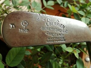 Antique Hickory shaft  * L.BERRIEN  SPECIAL*  BERESFORD C.C. 1915  golf club
