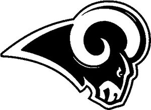 """Los Angeles Rams NFL Decal """"Sticker"""" for Car or Truck or Laptop"""