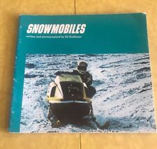 SNOWMOBILES RACING  Ed Radlauer Vintage Softcover 1972 Car Book Kids RUPP SNOJET