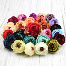 Artificial Silk Flower Heads Bulk 10/15Pcs Fake Camellia Peony Wedding Decor