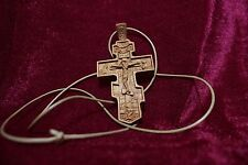 Carved Neck Cross. Carved wooden cross. Orthodox. Rare. Free shipping!