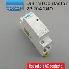 CT1 2P 20A 220V/230V 50/60HZ Din rail Household ac contactor 2NO