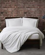 Sean John Solid Cotton Percale 3 Piece Full / Queen Duvet Cover Set White $70