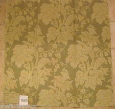 Highland Court Gold Green Floral Brocade Upholstery Designer Fabric Sample