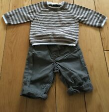 Baby Boys Next Brown Top And Trousers Size 3-6 Months