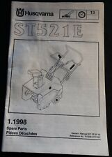 1998 Husqvarna St521E Snow Blower Spare Parts Manual P/N 761269 (220)