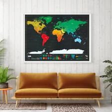 Travel map scratch off poster - map of the world Journal Tracker List scratch