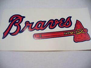 MLB - Atlanta Braves Bumper Sticker - VINTAGE - NEW