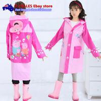 Kids Raincoat Jacket HOODIE Peppa Pig frozen mini mouse Thomas Cars ponchos