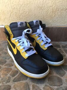Nike Dunk High Black /varsity maize flint grey 2009 317982-071 US 10/UK 9