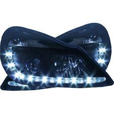 Vauxhall Corsa D (06-11) Black DRL Devil Angel Eyes Front Headlights Lights PAIR