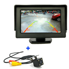 "4.3"" TFT LCD Car Rear View Mirror Monitor+Night Vision Backup Reverse Camera Kit"