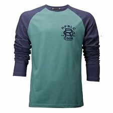 Mens Republic Long Sleeve Cotton & Polyester  Casual Tee ~ Top ~ T.Shirt