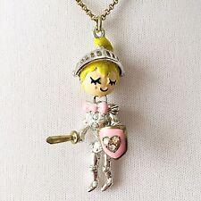 Betsey Johnson 'Fairyland' Adorable Knight/Rainbow Necklace NWT!
