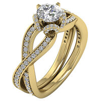I1 G Split Shank Solitaire Engagement Ring 2.00Ct Round Diamond 14Kt Solid Gold