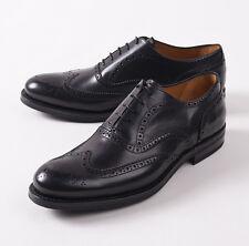 NIB $895 CANALI 1934 Goodyear Welt Black Wingtip Balmoral US 11 D Dress Shoes
