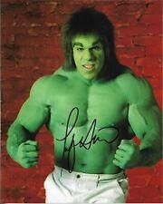 "LOU FERRIGNO ""The Incredible Hulk"" Autographed 8 x 10 Signed Photo HOLO COA"