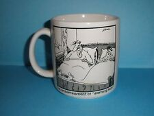 Vintage Far Side MUG Gary Larson 1982 Embarrassment of Morning Face Comic Funny