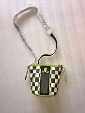 Mackenzie Childs Courtly Check Mini Bucket Bag - Chartreuse
