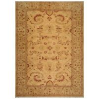 """10'1"""" x 13'9"""" Hand Knotted 100% Wool Oushak Oriental Area Rug Tan Traditional"""