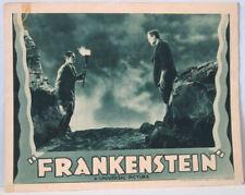 Frankenstein Movie Poster Original Lobby Card Boris Karloff 1938