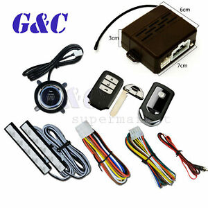 GPS Car Alarm Security System Push Button Start Passive Keyless Remote Kit