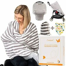 Nursing Cover Multi Functional Car Seat Stroller Cover Blanket Striped Material