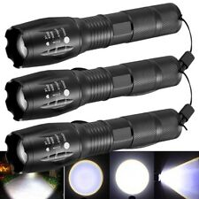3x Tactical 15000LM T6 LED Flashlight Torch High Powered 5mode Zoomable Aluminum