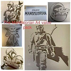The Mandalorian Stencil , Baby Yoda Stencil, Star Wars Stencil,star Wars Decor
