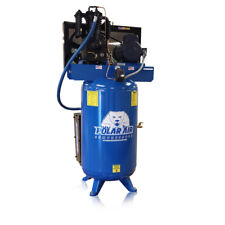 5hp Quiet Air Compressor Single Phase 2 Stage 80gallon Tank Vertical Industrial